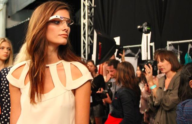 fashion week moda google glass