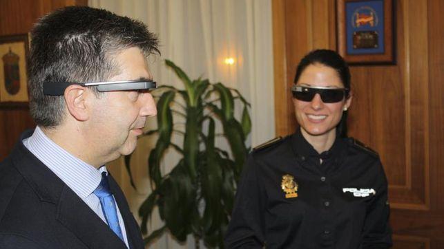 policia con google glass
