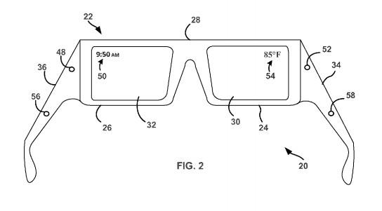 Patente muestra Google Glass con pantalla binocular y altavoces ultrasónicos