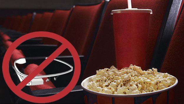 Google Glass y demás wearables prohibidos en las salas de cine