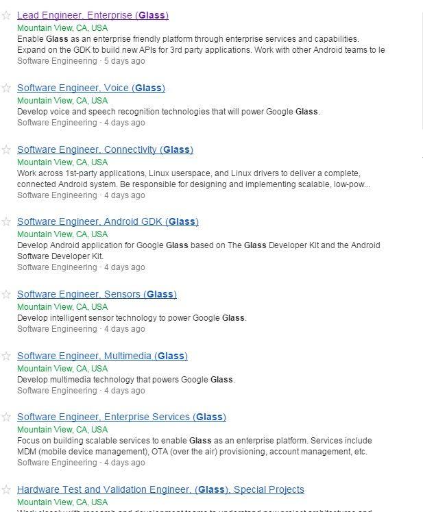 google glass empleo