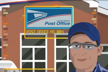 servicio postal google glass