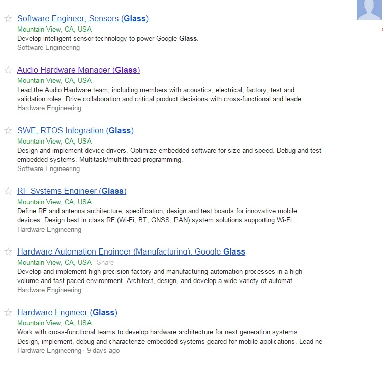 jobs google glass