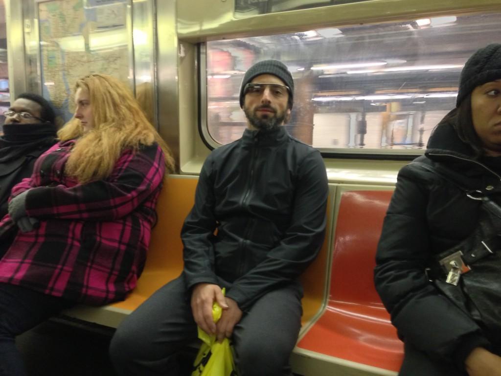 sergey brin metro google glass