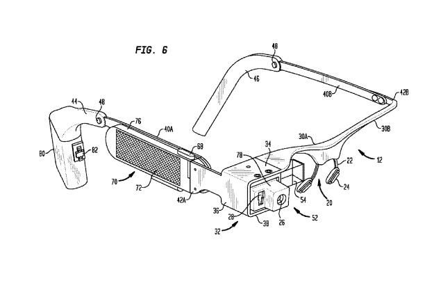 pilas patente google glass