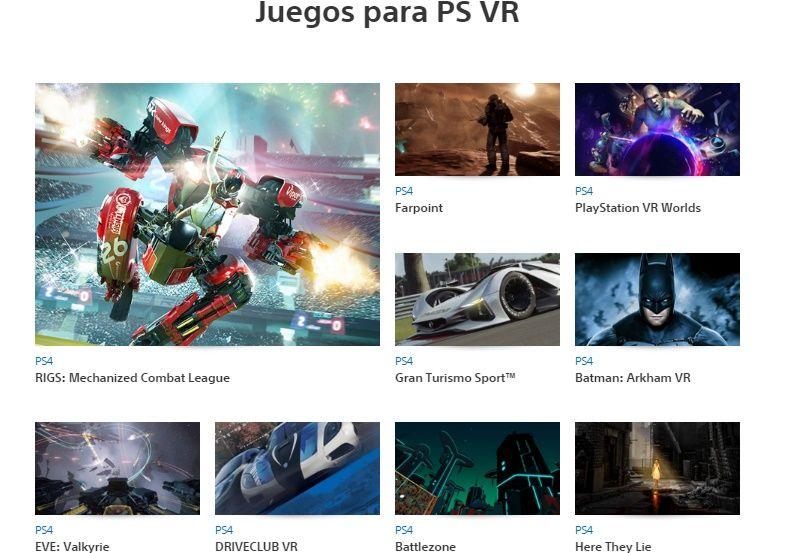 juegos playstation vr