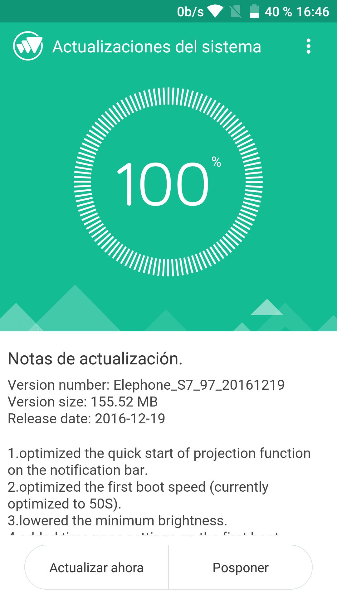 actualizacion elephone s7