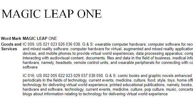 magic leap one patente