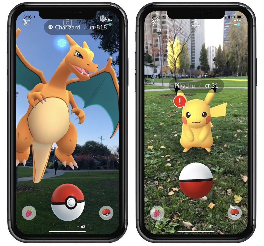 pokemon go arkit apple