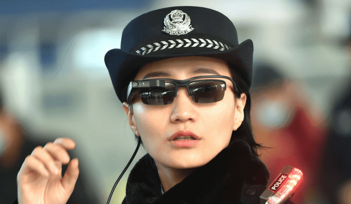 policia china gafas