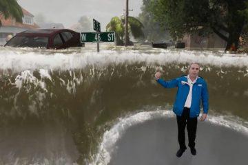 tiempo realidad aumentada huracan florence