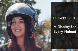hudway sight pantalla inteligente casco