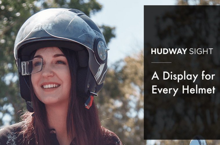 hudway sight pantalla inteligente casco