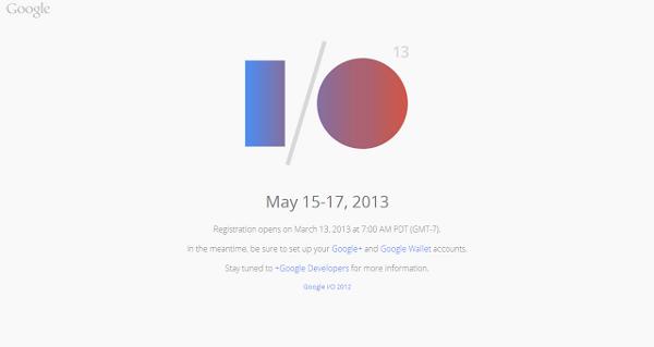 Abiertas las inscripciones para Google I/O 2013 ¿Glass la estrella?