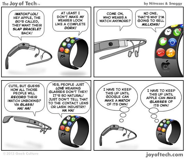 [Humor] Tira cómica Google Glass vs Apple Watch