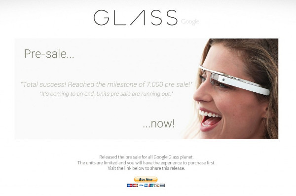 Google Glass: Empiezan las estafas. Los expertos advierten sobre páginas falsas para adquirir el producto