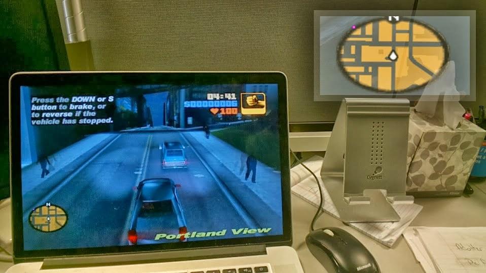 "Grand Theft Auto "" llega "" a Google Glass"