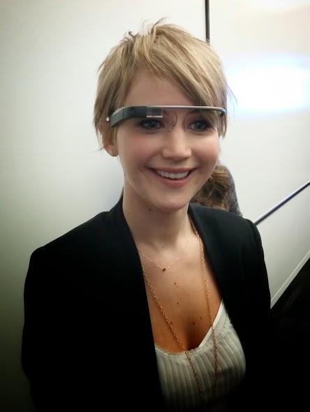 """Google Glass y actores de la película """" Los Juegos del Hambre """""""