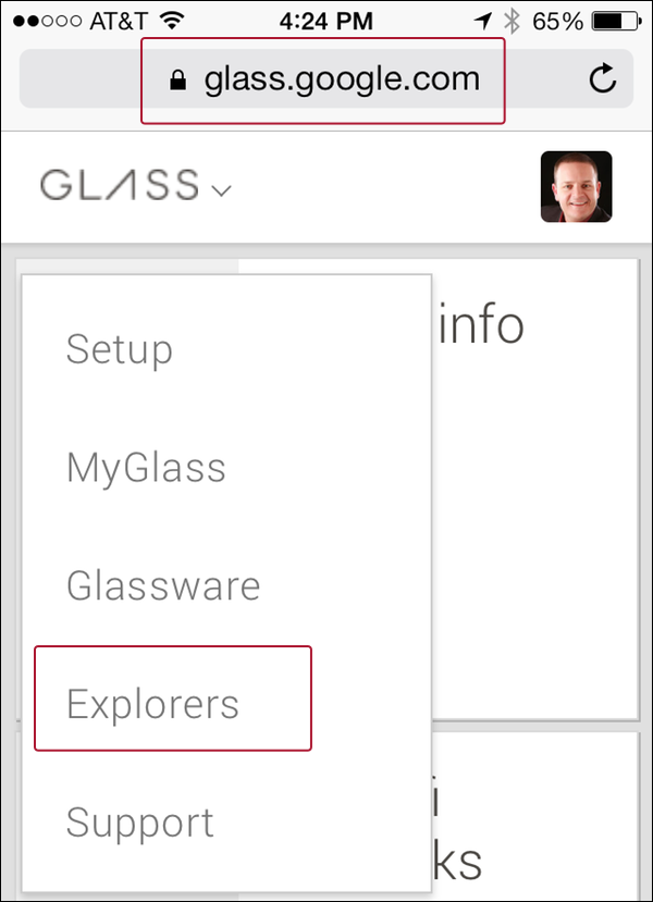 Comunidad oficial de explorers de Google Glass disponible para móvil