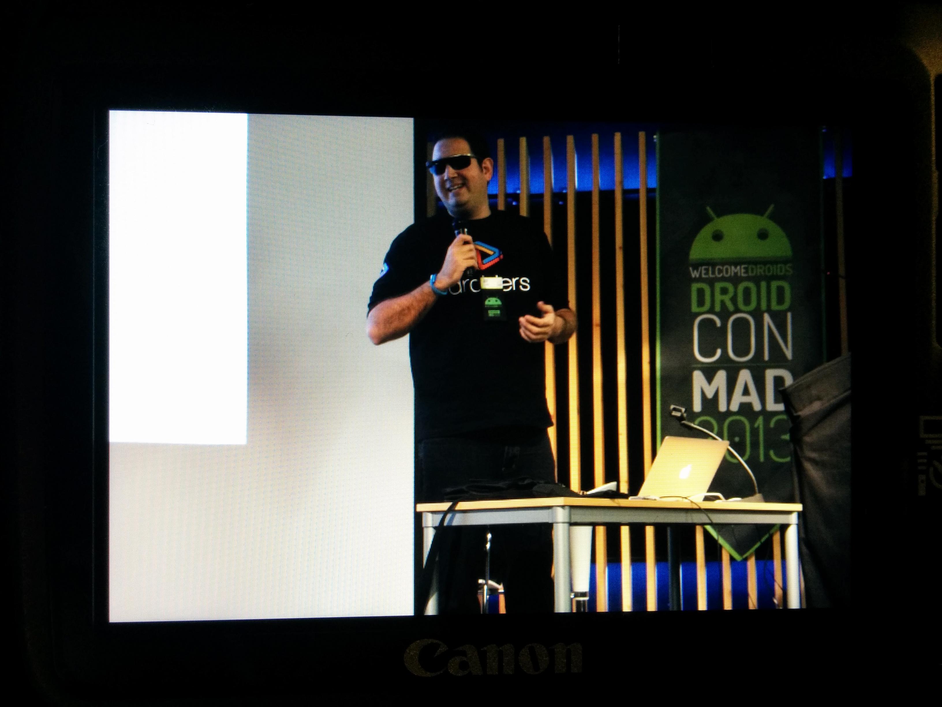 Julián Beltrán, Droiders y Google Glass en el DroidCon Spain 2013