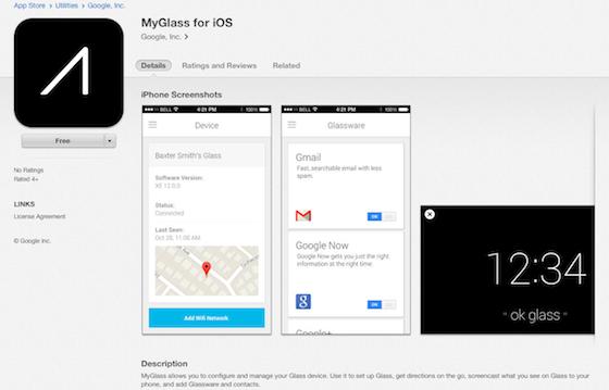 MyGlass llega a AppStore,la aplicación oficial de Google Glass