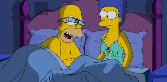 simpsons google glass