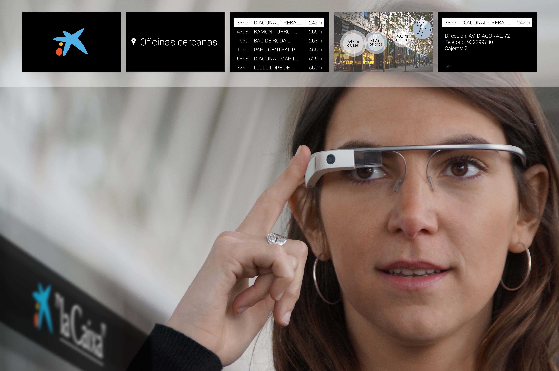 """""""La Caixa"""" lanza sus aplicaciones para Google Glass y smartwatch"""