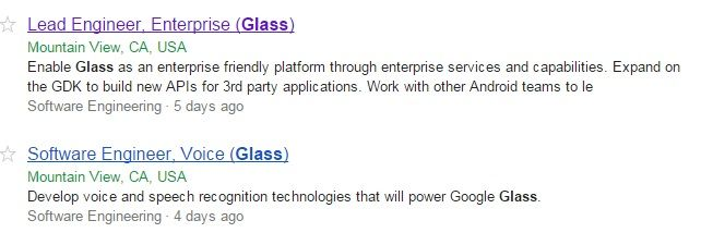 google glass empleos