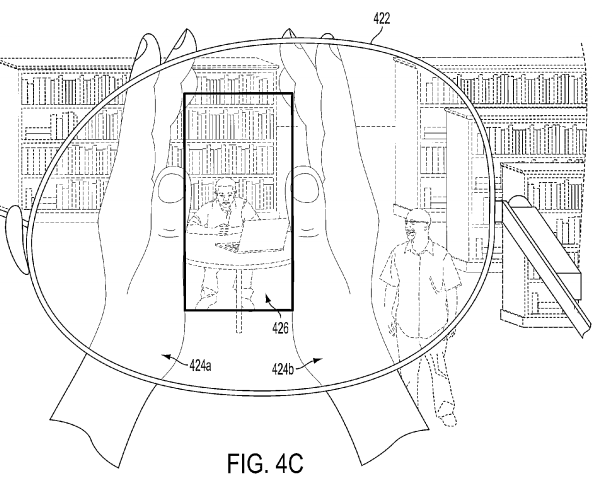 tomar fotos google glass patente