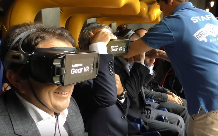 realidad virtual montaña rusa warner madrid