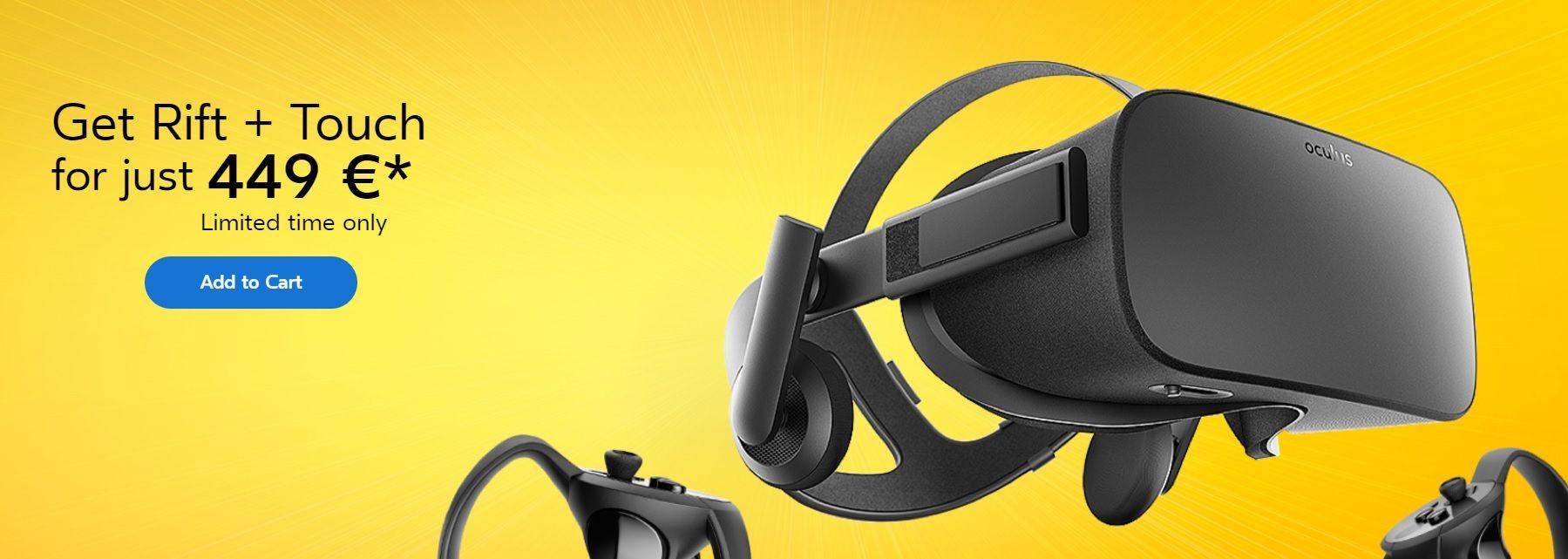 Oculus rebaja Oculus Rift con Touch hasta finales de Agosto