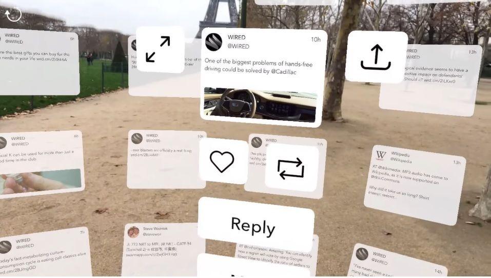 TweetReality: Twitter en realidad aumentada a lo Minority Report