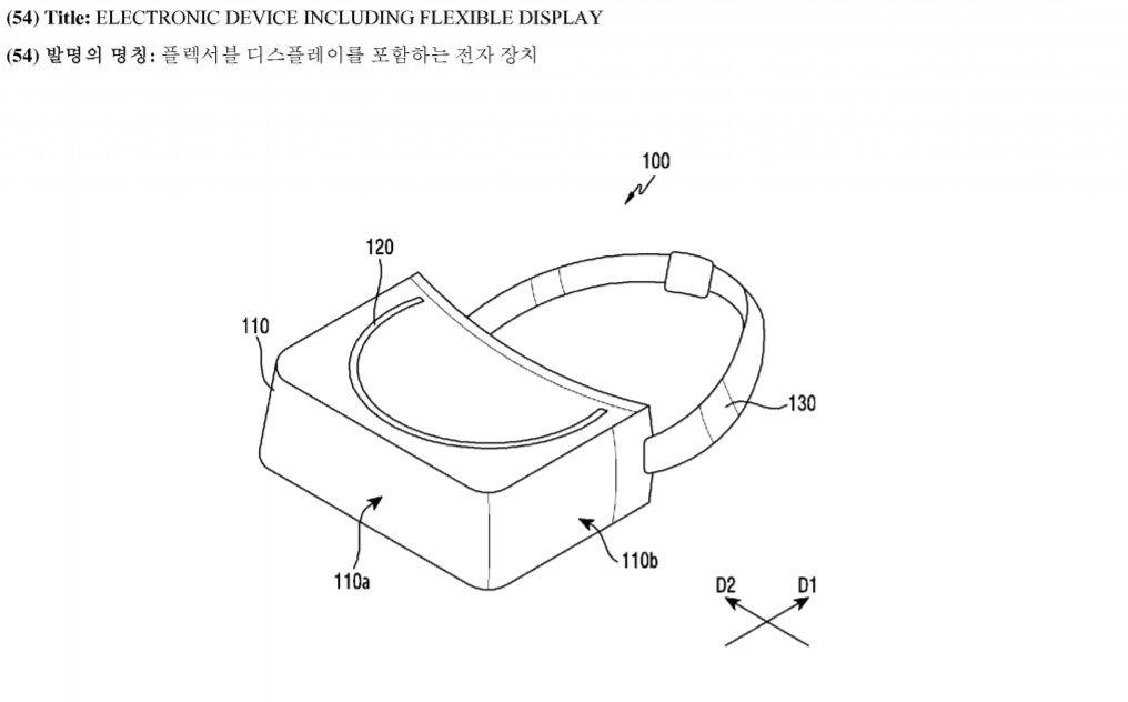 gafas vr samsung pantalla flexible