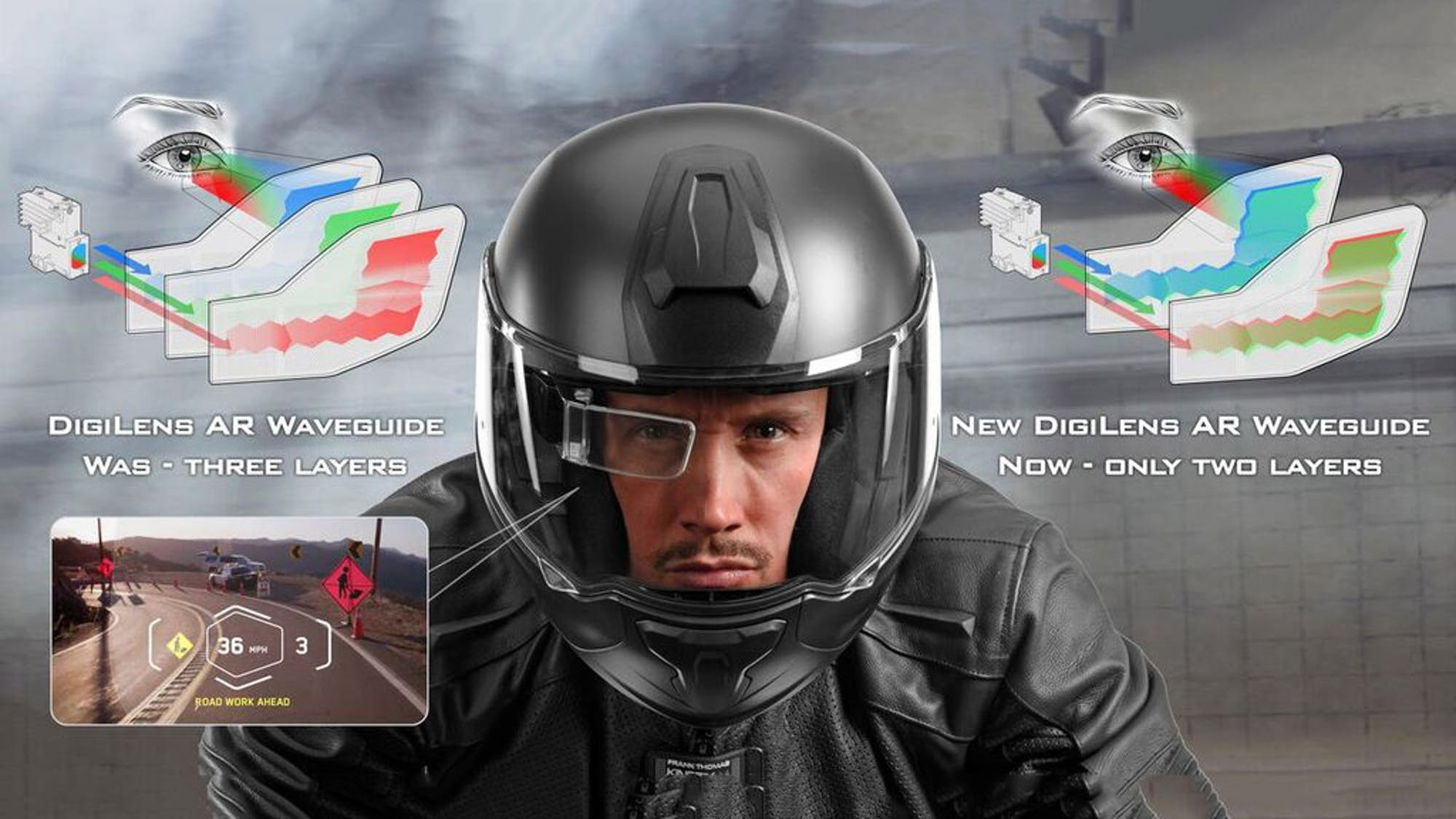 casco inteligente motos digilens
