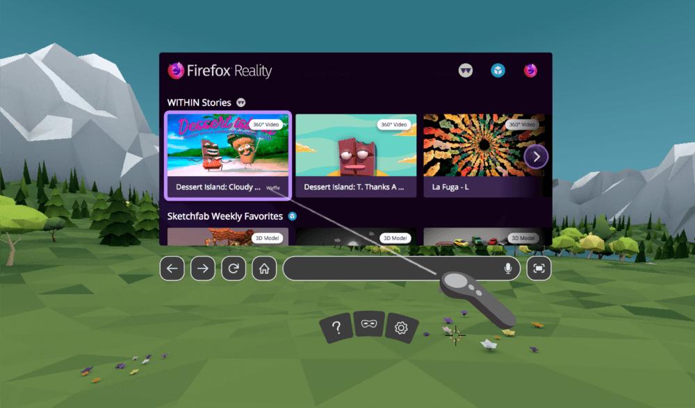 Firefox Reality la versión del navegador web en Realidad Mixta disponible para Viveport, Oculus y Daydream