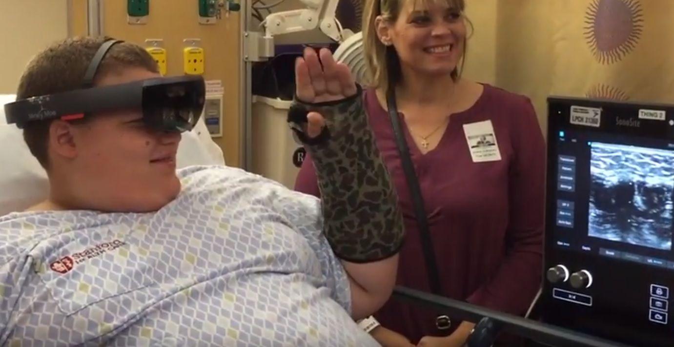 HoloLens y la AR para calmar a los pacientes durante los procedimientos médicos