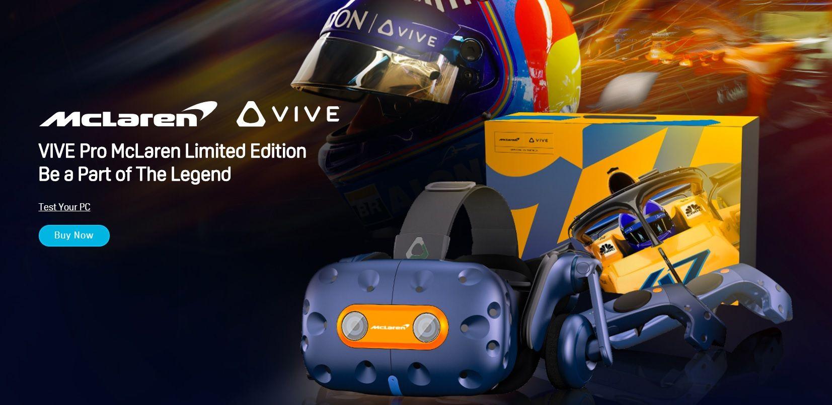 HTC VIVE PRO MCLAREN EDITION para los fans de la Fórmula 1