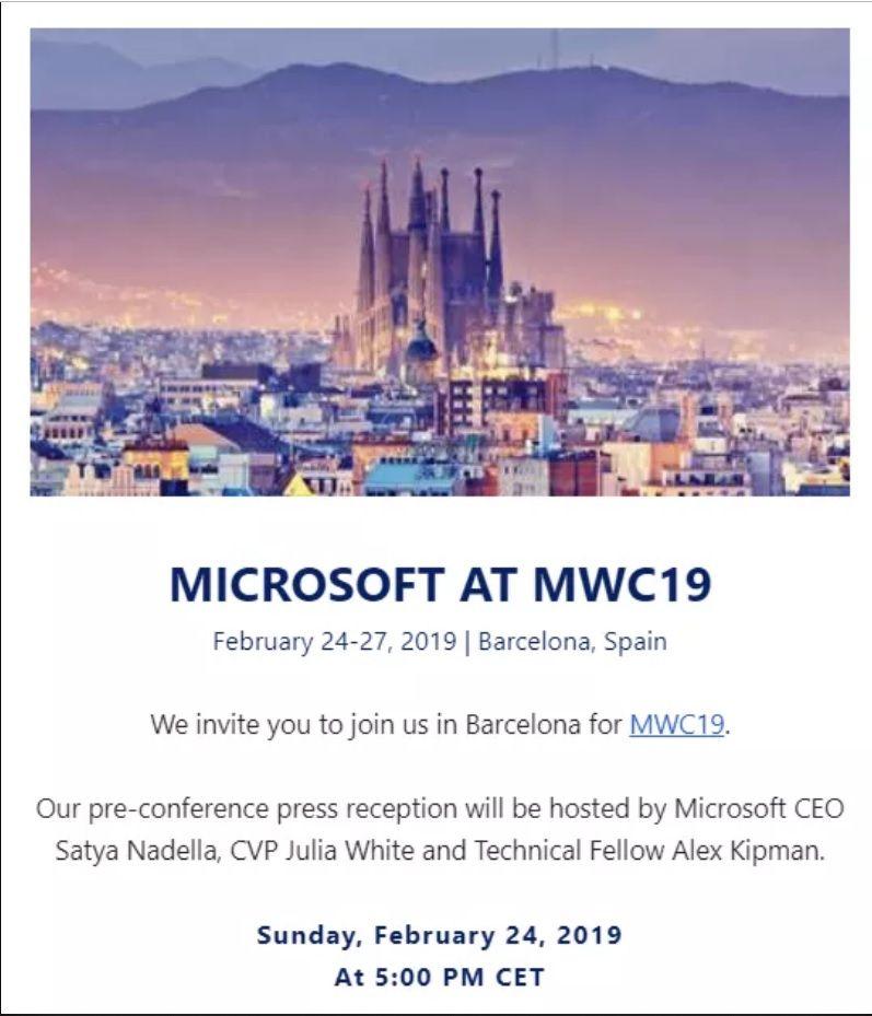 Conferencia Microsoft MWC19 Hololens 2