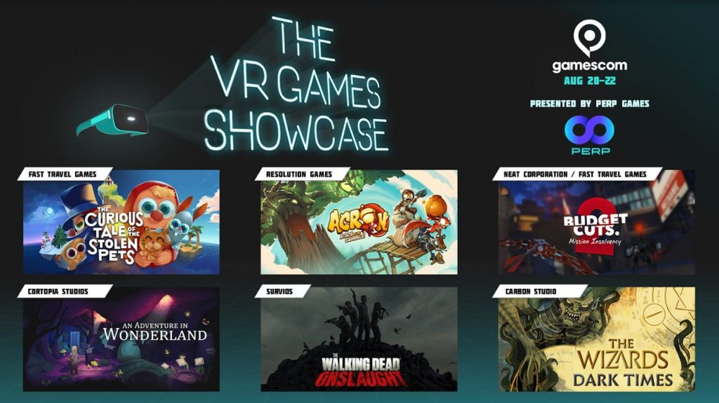 evento de realidad virtual juegos showcase