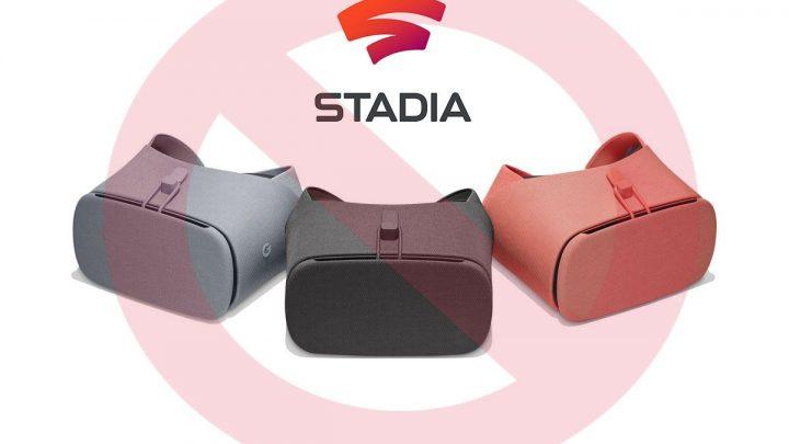 Google Stadia no será compatible con la realidad virtual, por el momento