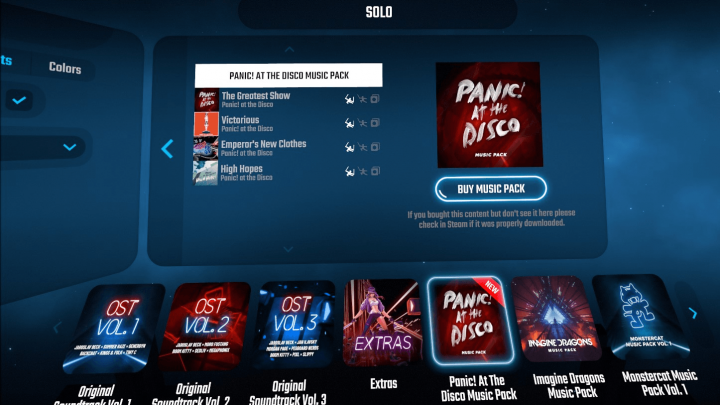Beat Saber: nuevo DLC con canciones de Panic! At The Disco