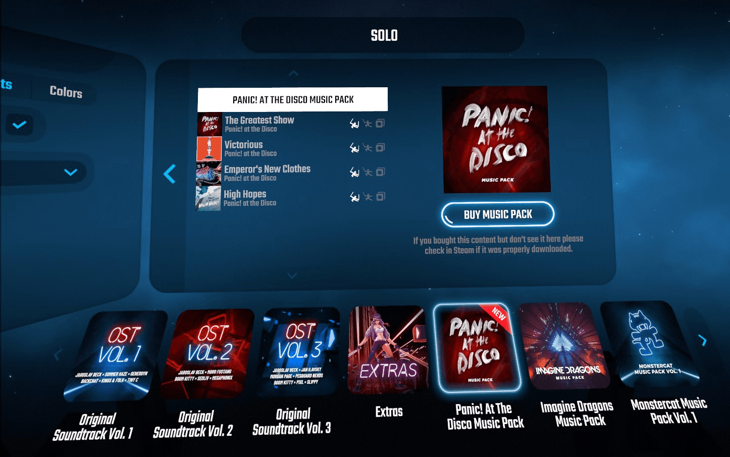 beat saber panic at the disco