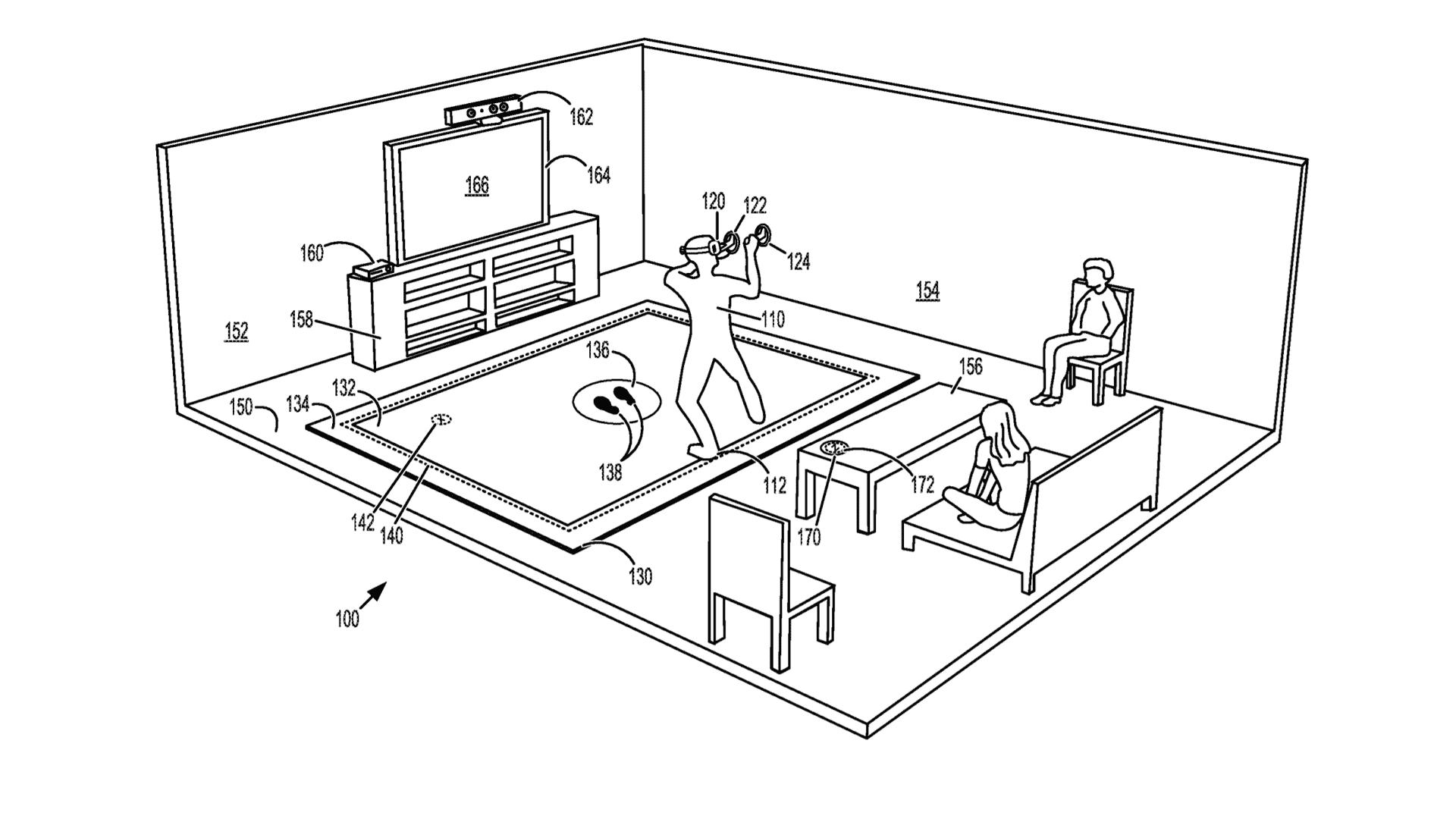 microsoft alfombra realidad virtual patente