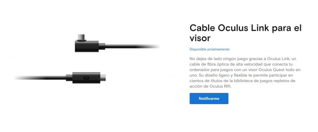 Cable Oculus Link