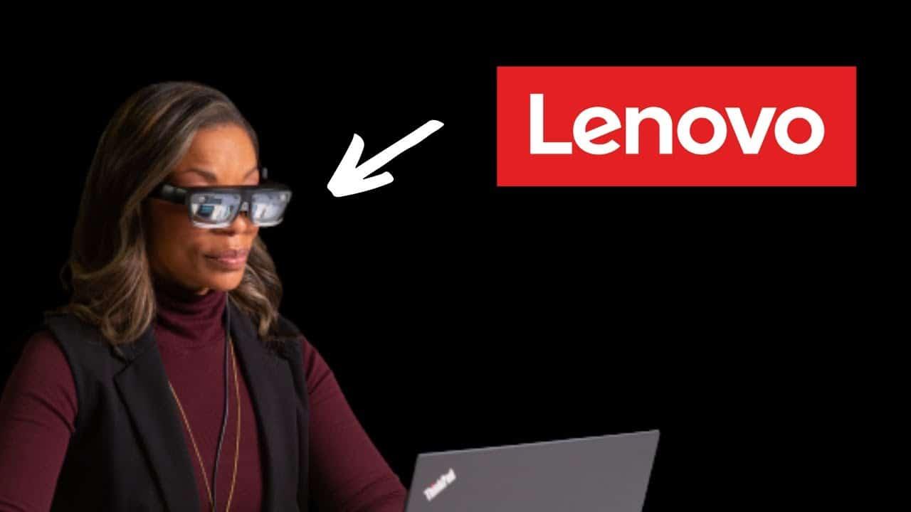 gafas de realidad aumentada de lenovo presentadas en el ces 2021, thinkreality a3